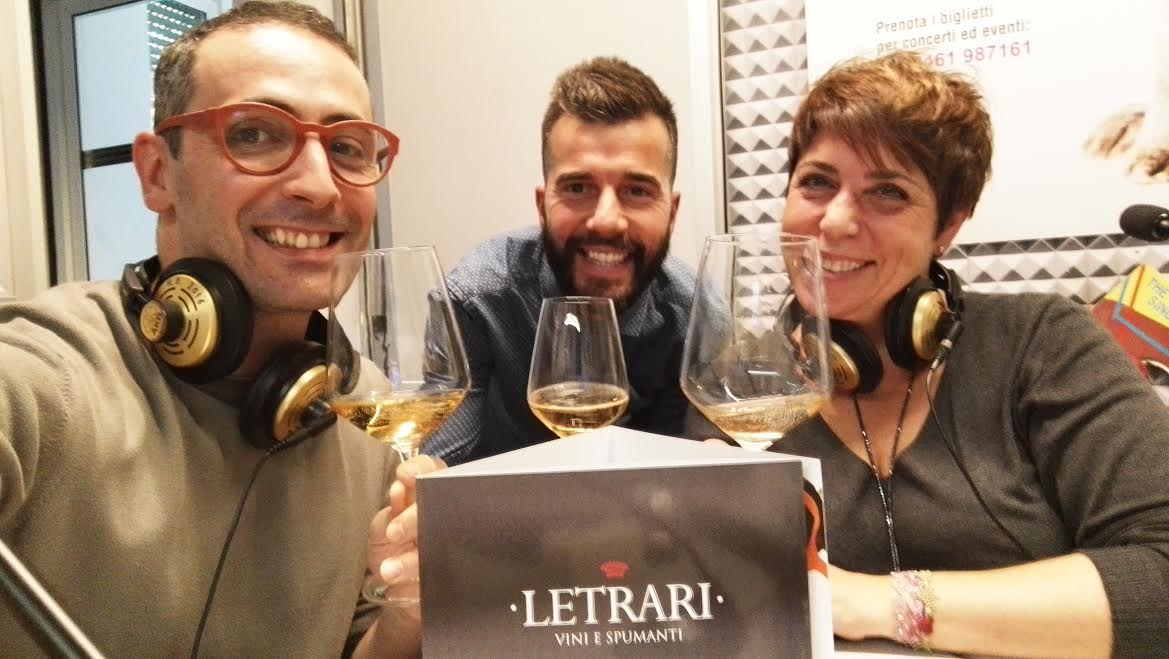 Abbinamento cibo vino VinoTube e LETRARI a Radio Dolomiti