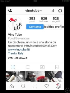 Instagram wine business vinotube gianni pasolini