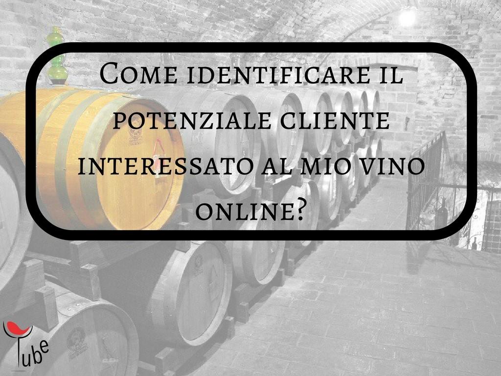 Come identificare il mio potenziale cliente interessato al mio vino online