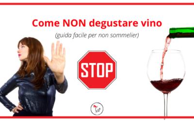 Come NON degustare vino (guida facile per non sommelier)